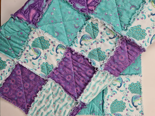 Raggy Quilt - so easy and so effective
