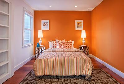 An-Attractive-Orange-Bedroom