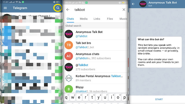 Cara Mutualan Telegram Lewat Chat Anonymous