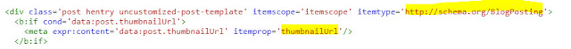 itemprop for Thumbnail URL