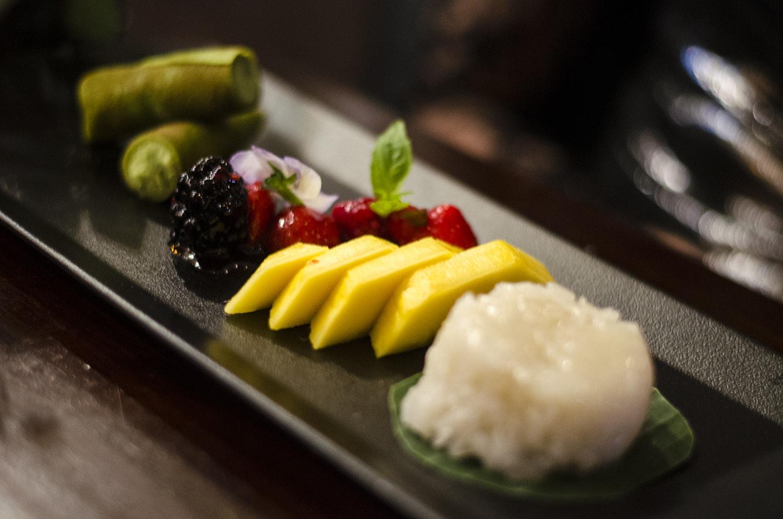 Thai dessert sampler in chaophraya liverpool