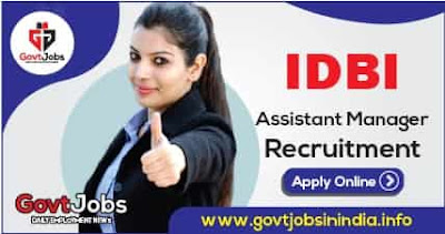 IDBI Bank Assistant Manager Online Form