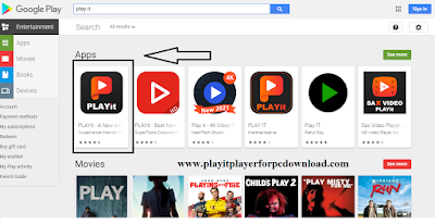 Download Playit in play store
