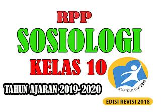 RPP K13 Sosiologi Kelas X Tahun Ajaran Baru