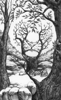 Sleeping Tiger Hidden Tiger Illusion Visual Phenomena And