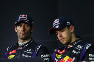 Mark Webber declined to accept Sebastian Vettel's apology following the driver press conference © Sutton Images
