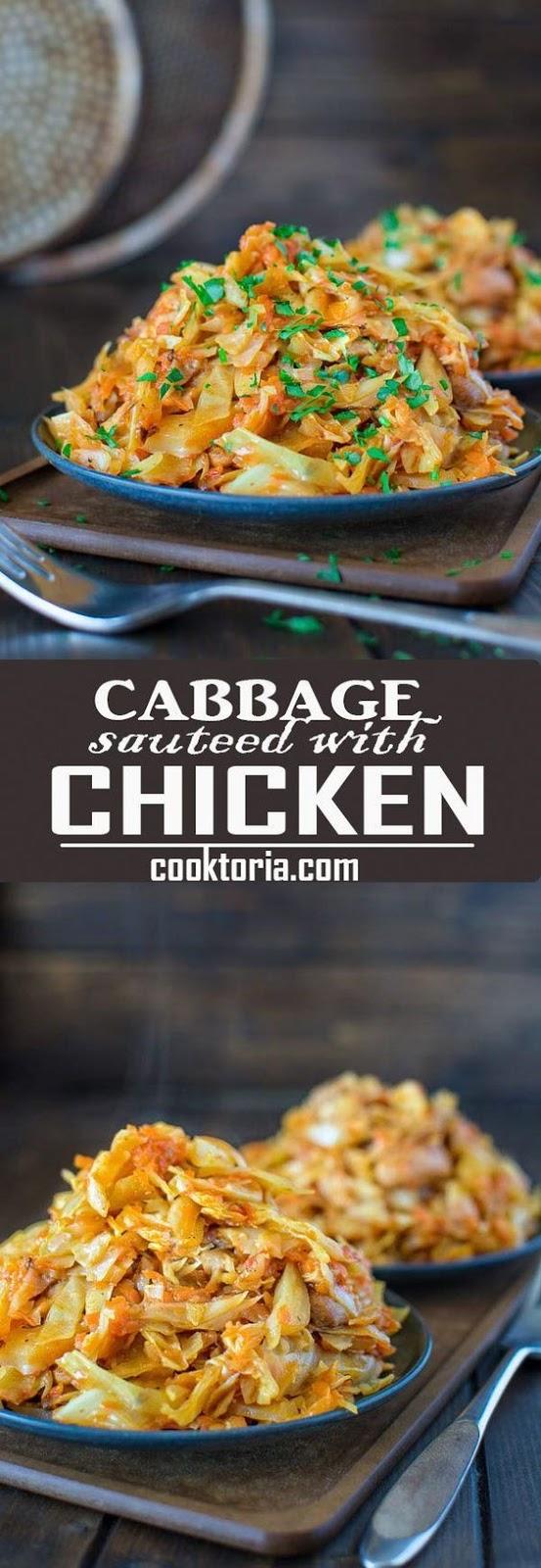 CABBAGE WITH CHICKEN #cabbage #chicken #chickenrecipes #vegetarian #vegetarianrecipes #veggies #veganrecipes