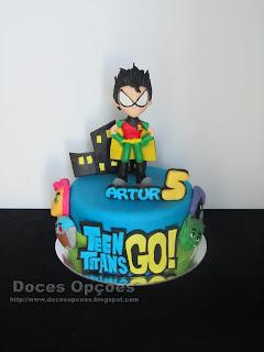 Bolo de aniversário Teen Titans Go!
