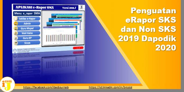 Penguatan eRapor SKS dan Non SKS 2019 Dapodik 2020