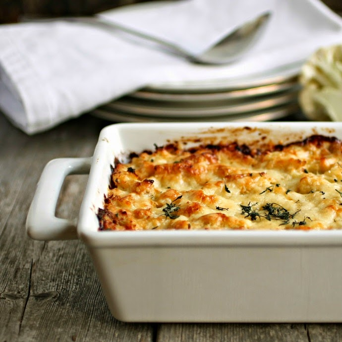 Cauliflower and Gruyere Gratin