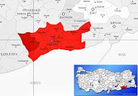 Derik ilçesinin nerede olduğunu gösteren harita