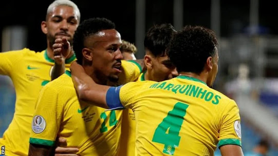 Copa America hosts Brazil saw their 10-game winning run come to an end as they drew 1-1 with Ecuador in Goiania.