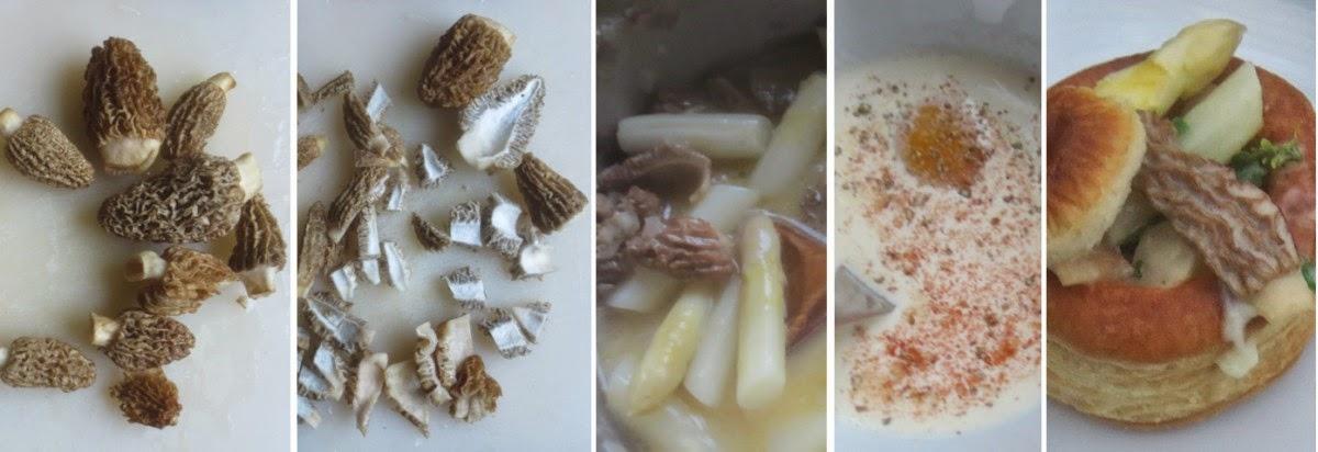 Zubereitung Blätterteigpastete mit Spargel-Morchel-Ragout