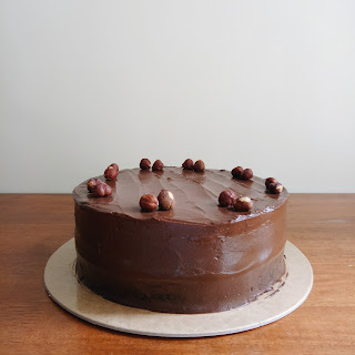 Hazelnut chocolate cake for my parents' wedding anniversary