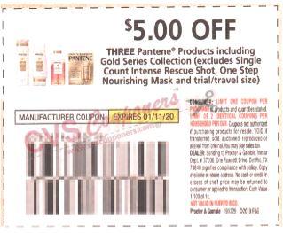 pantene coupon $5.00 off 3