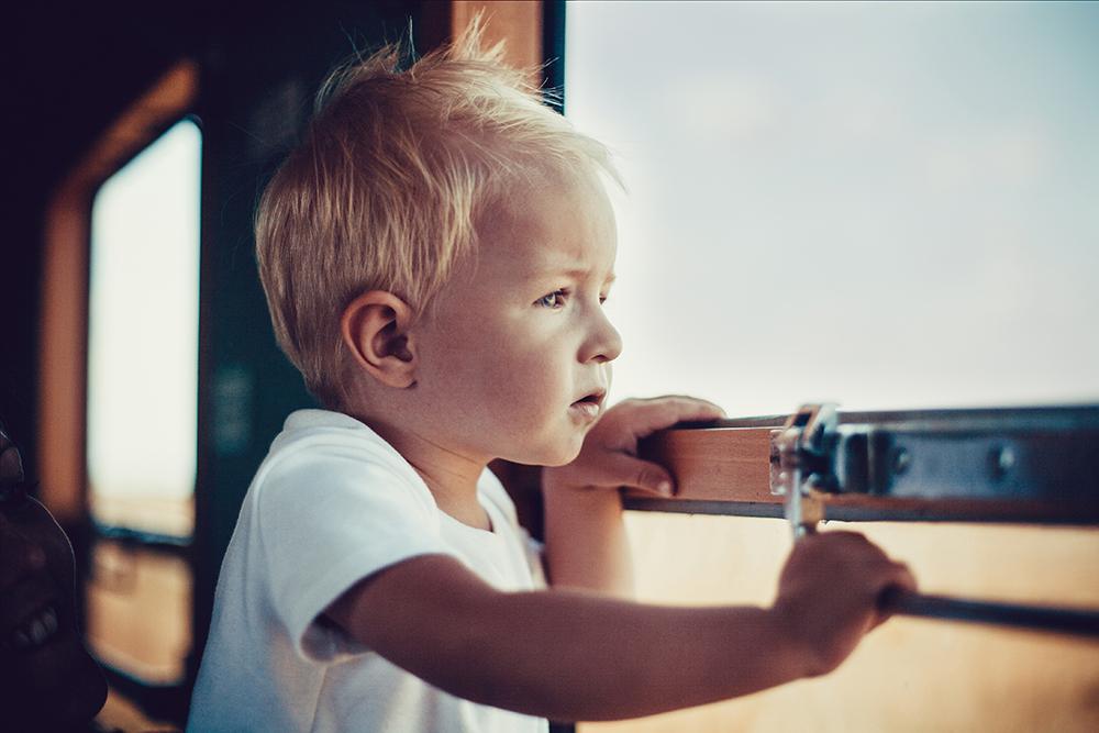 Portret dziecka w podróży