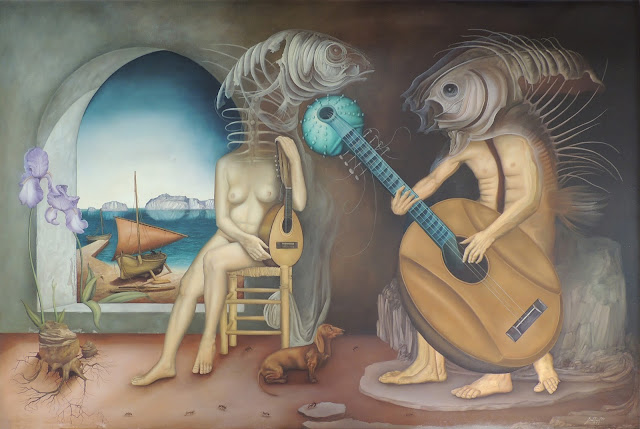 Gregorio Sabillón pintura cuadro surrealimo