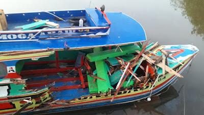 Tabrakan Speed Boat Semoga Abadi 04  Dengan Speed Boat Wawan Putra , 1 Meninggal di TKP 1 Hilang