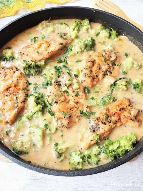 Kurczak w sosie z brokułami przepis