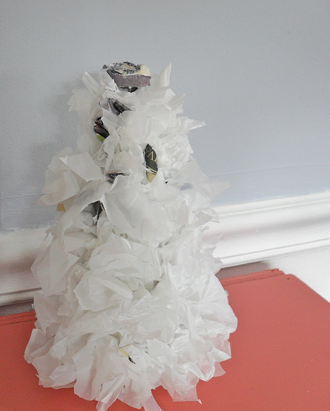 The Remodeled Life: Paper or Plastic Whimsical Christmas Trees
