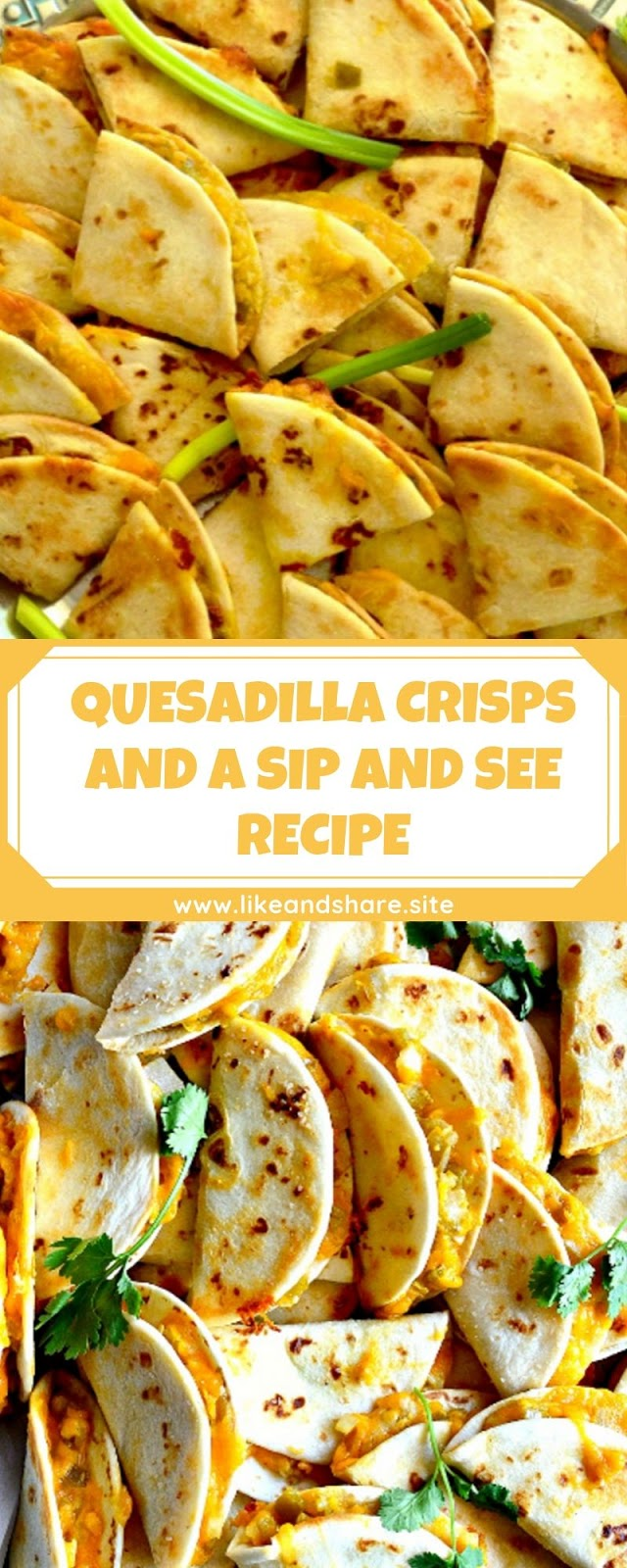 QUESADILLA CRISPS AND A SIP AND SEE RECIPE