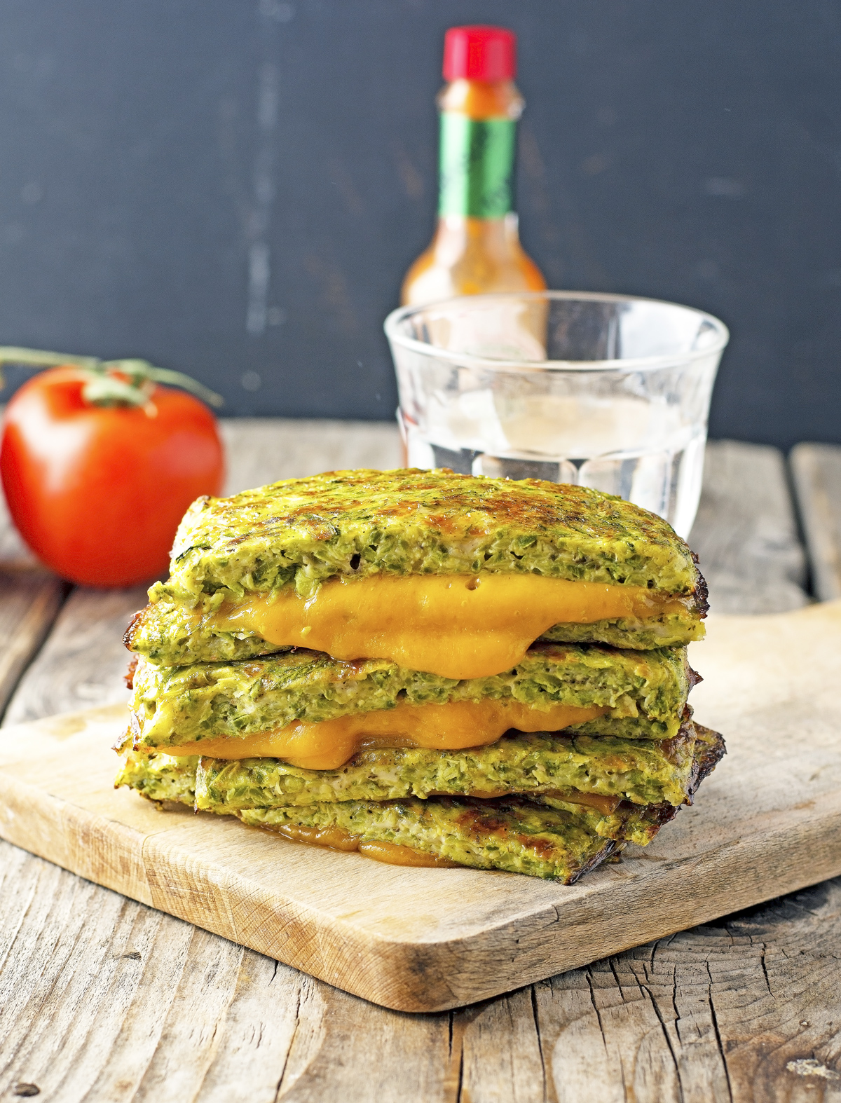 Zucchini Crust Grilled Cheese