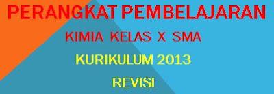 RPP Kimia SMA Kelas X Kurikulum 2013 Revisi
