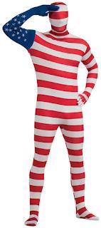USA Flag Skin Suit Adult Costume