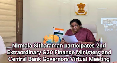 Nirmala Sitharaman participates 2nd Extraordinary G20 Finance Ministers and Central Bank Governors Virtual Meeting