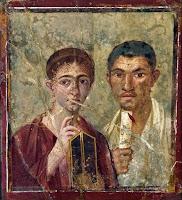 Fresco del panadero Terentio Neo y de su esposa de la Casa de Terentio Neo en Pompeya