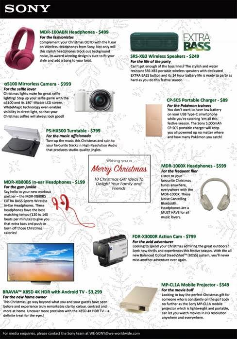 Sony electronics gift guide wishing you a merry christmas the also listen to music hands free with our mdr 100abn hear on wireless nc headphones thats right you no longer have to spend ages trying to detangle negle Choice Image