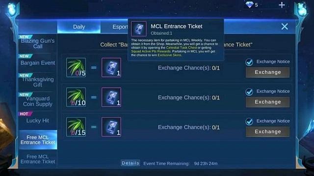 Cara Mendapatkan Tiket MCL Gratis