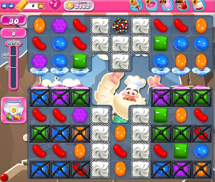 Candy Crush Saga level 2162