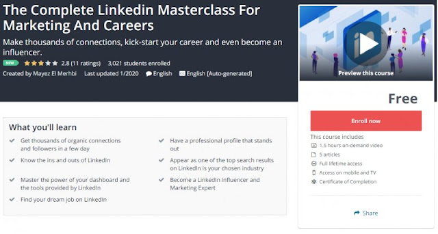 [100% Free] The Complete Linkedin Masterclass For Marketing And Careers