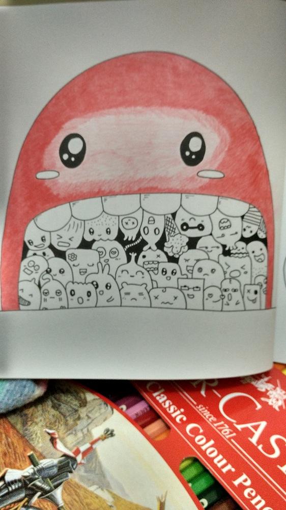 Mewarnai Doodle dengan Pensil Warna  Goresan Absurd