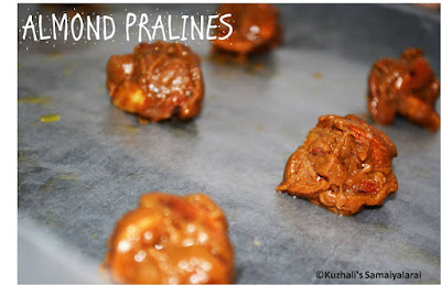 MICROWAVE ALMOND PRALINES-CHEWY BADAM CANDY