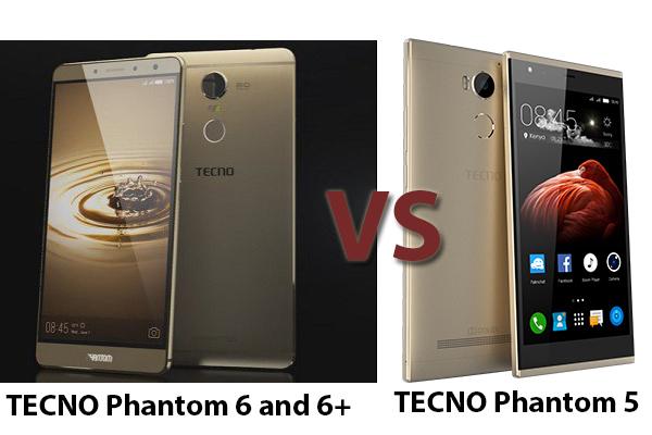 Compare Tecno Phantom 6 VS Tecno Phantom 5 - NaijaInformation