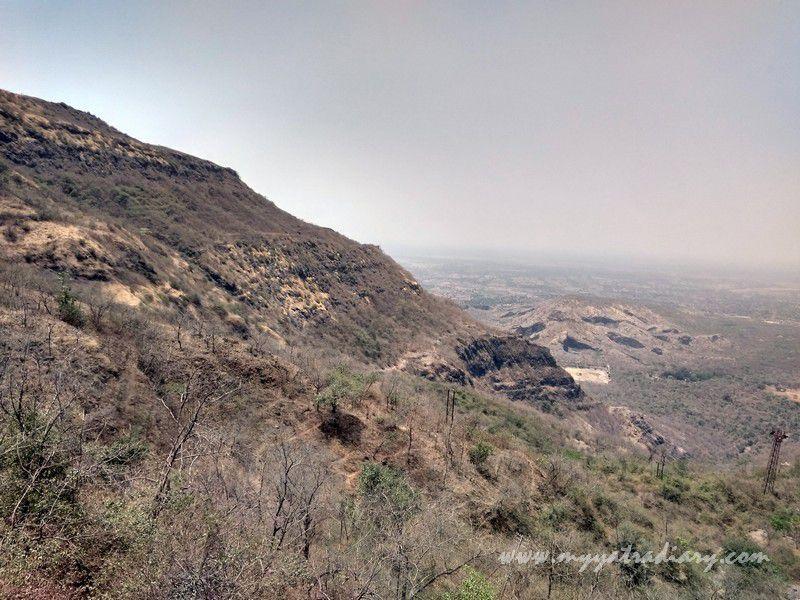 Amazing views from cable ropeway - Mahakalika Temple, Pavagad, Champaner Gujarat