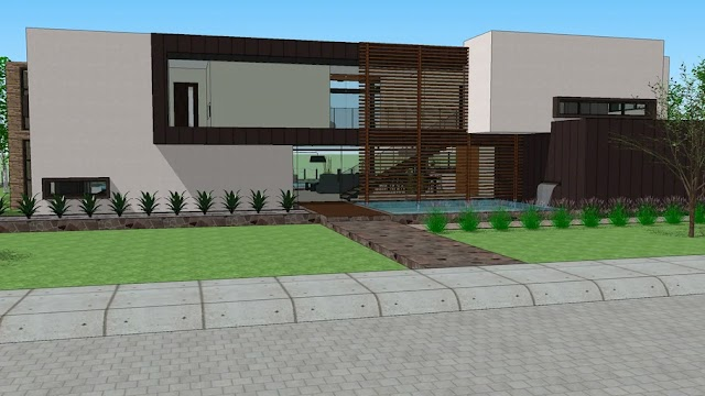 Modern House With Two Floors [SKP]