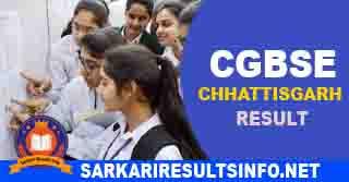 Chhattisgarh CGBSE Board Result