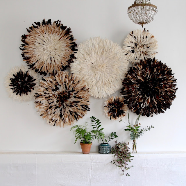 Natural Juju Hat Installation for wall decor