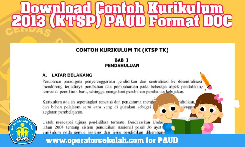Download Contoh Kurikulum 2013 (KTSP) PAUD Format DOC.jpg