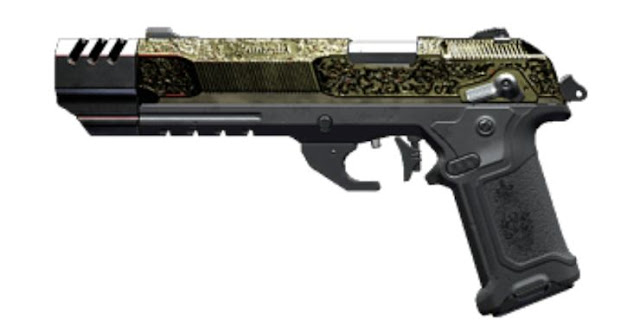 مسدس La Chingona Dorada في لعبة Cyberpunk 2077