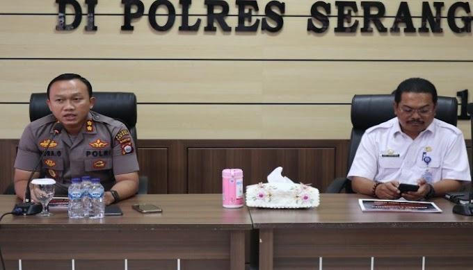 Rakor Internal Ops Aman Pilkades Kalimaya 2019 Dipimpin Kapolres Serang