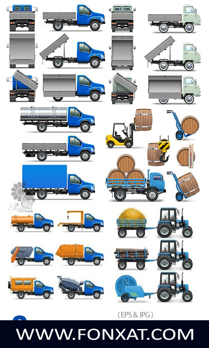 Download Pictures icons transportation, truck, tractor