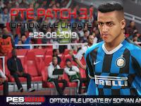 Option File PES 2019 untuk PTE 3.1 DLC 6.0 update 29/8/2019