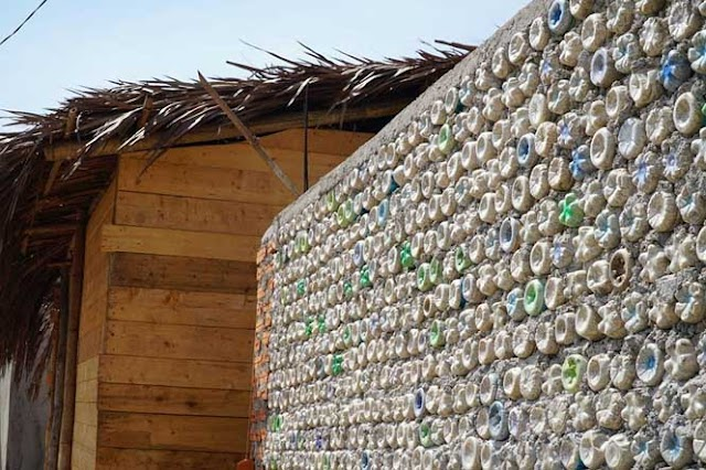 The house made of 6000 plastic bottles on Be island is very impressive to visitors