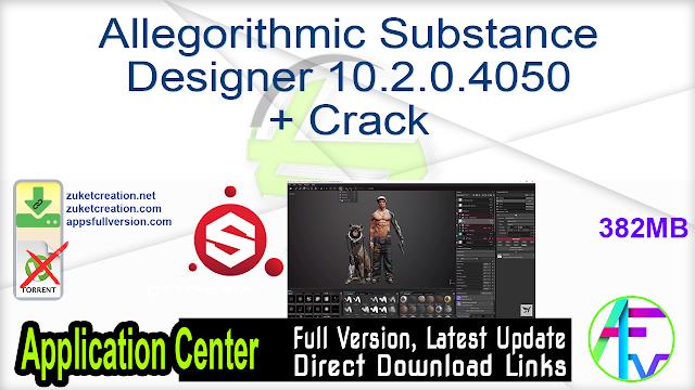 Allegorithmic Substance Designer 10.2.0.4050 + Crack