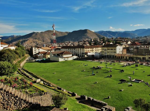 Qoricancha, ruínas do antigo Império Inca, em Cusco no Peru