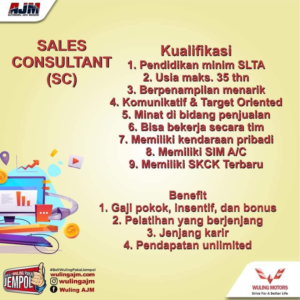 Lowongan Kerja Semarang Sales Consultant di PT Automobil Jaya Mandiri adalah Dealer Resmi Mobil Wuling Semarang